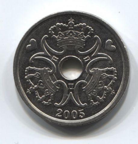 2 кроны 2005 года Дания AUNC