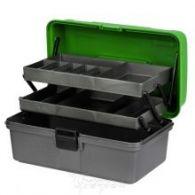 Ящик рыболова двухполочный Helios зеленый