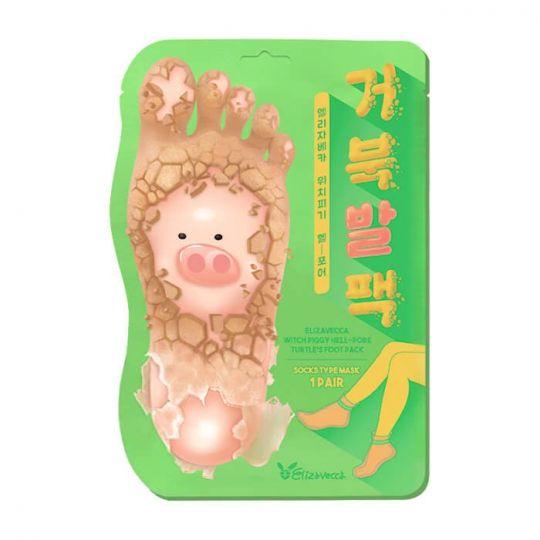 Elizavecca Отшелушивающие пилинг-носочки для педикюра Witch Piggy Hell Pore Turtle's Foot Pack, 40г