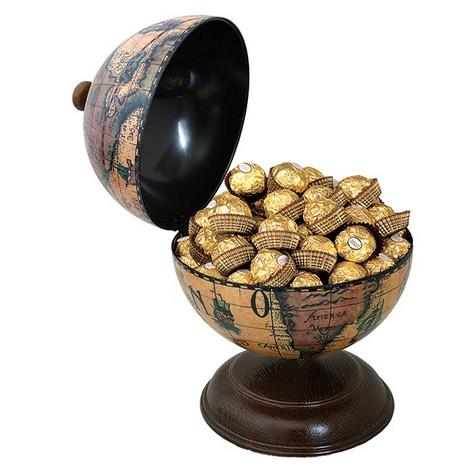 Настольный глобус-бар конфетница.