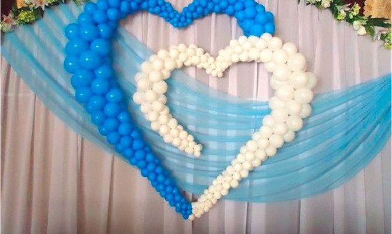 Разнокалиберное сердце из шаров