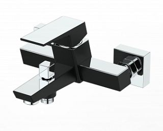 Смеситель для ванны GRANO, хром/черный, d-35