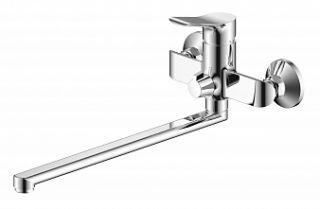 Смеситель для ванны и умывальника SELENA, d-35, керамбукса, L-обр. излив 350 мм,
