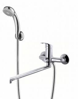 Смеситель для ванны и умывальника STROY, d-35, керамбукса, L-обр. излив 325 мм,