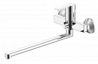 Смеситель для ванны и умывальника TITAN, d-35, керамбукса, L-обр. излив 350 мм,