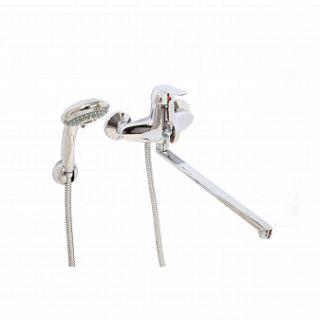 Смеситель для ванны и умывальника ECHO, d-40, керамбукса, L-обр. излив 375 мм,