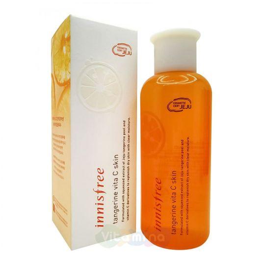Innisfree Увлажняющий тонер с экстрактом мандарина Tangerine Vita C Skin, 200 мл