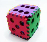 Кубик крупный мягкий разноцветный