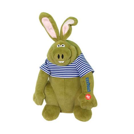 Заяц Спецназ мягкая поющая игрушка