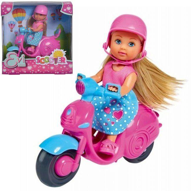 ЕВИ Кукла на скутере 12 см