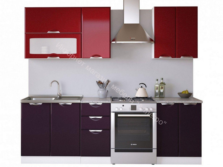 Кухня Равенна Вива 1,8 №2 м бордо/фиолет