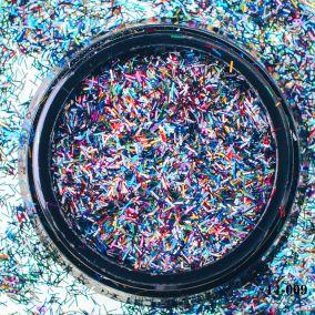 Стружка Hanami, цветной микс 02*1,5мм 2 гр.