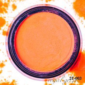 Акриловая пудра Hanami однотонная, оранжевый неон 2 гр.