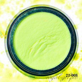 Акриловая пудра Hanami однотоная, жёлтый неон 2 гр.