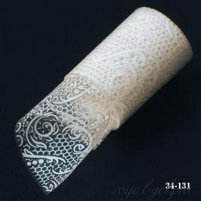 Фольга для литья Hanami Белое кружево, белый 1м.