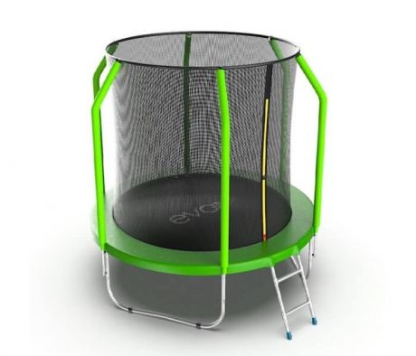 Батут с внутренней сеткой и лестницей Evo Jump Cosmo 6ft Green