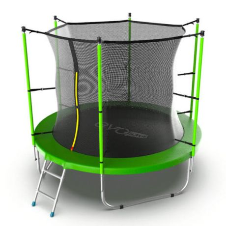 Батут с защитной сеткой Evo Jump Internal 8ft Green