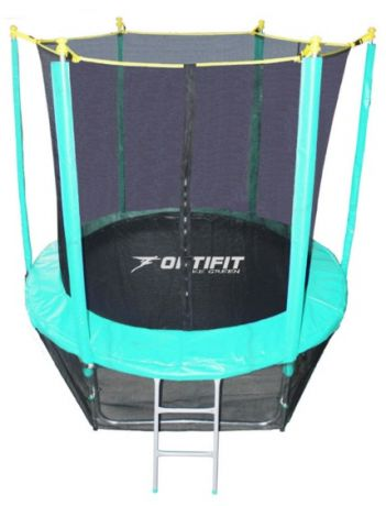 Батут для дачи с сеткой Optifit Like Green 8ft 2,44 м