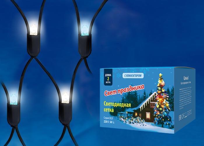 Уличная светодиодная гирлянда (UL-00005485) Uniel сетка 220V бело-синий ULD-N2015-288/SBK White-Blue IP67