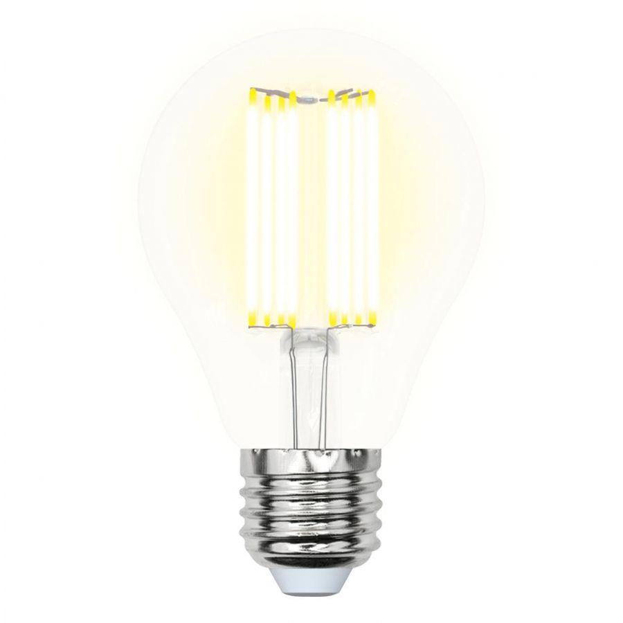 Лампа светодиодная филаментная (UL-00005897) E27 23W 3000K прозрачная LED-A70-23W/3000K/E27/CL PLS02WH