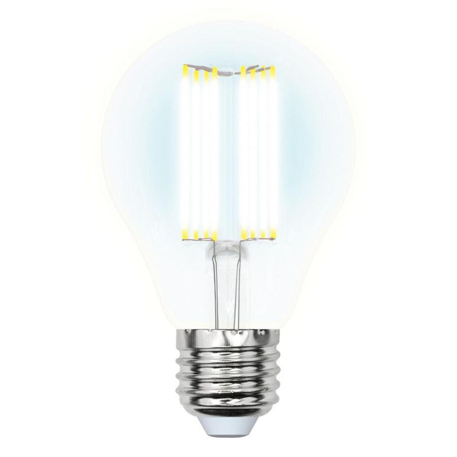 Лампа светодиодная филаментная (UL-00005898) E27 23W 4000K прозрачная LED-A70-23W/4000K/E27/CL PLS02WH
