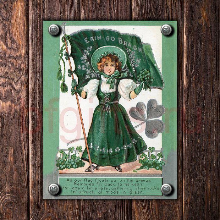 Ирландская табличка из металла