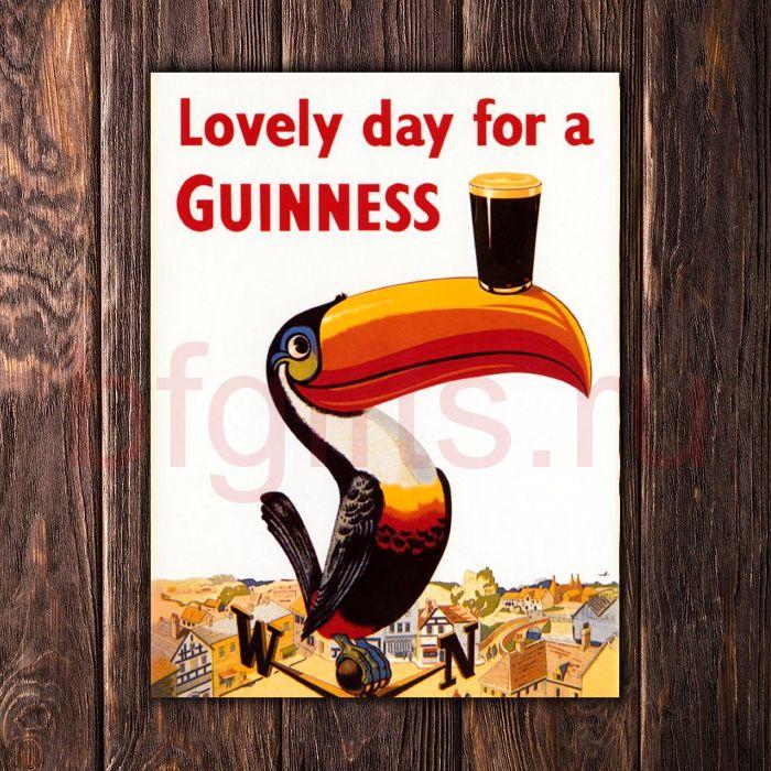 Табличка из металла Guinness