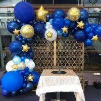 Гирлянда из шаров на детский праздник синий с золотом