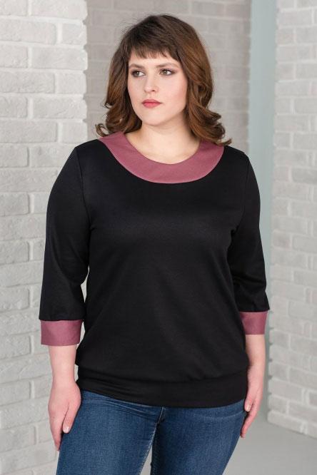 Блуза женская арт.0150-11 черная, милано