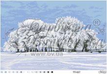 ТП027 Барвиста Вышиванка. Зимний Островок Посреди Озера. А2 (набор 3875 рублей)