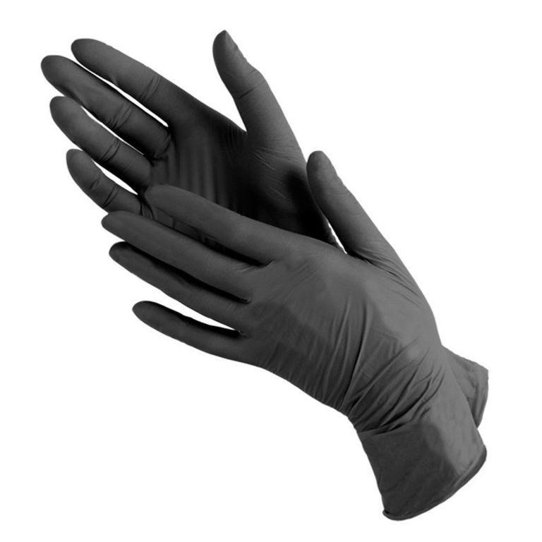 Перчатки не медицинские Чёрные  50пар/уп