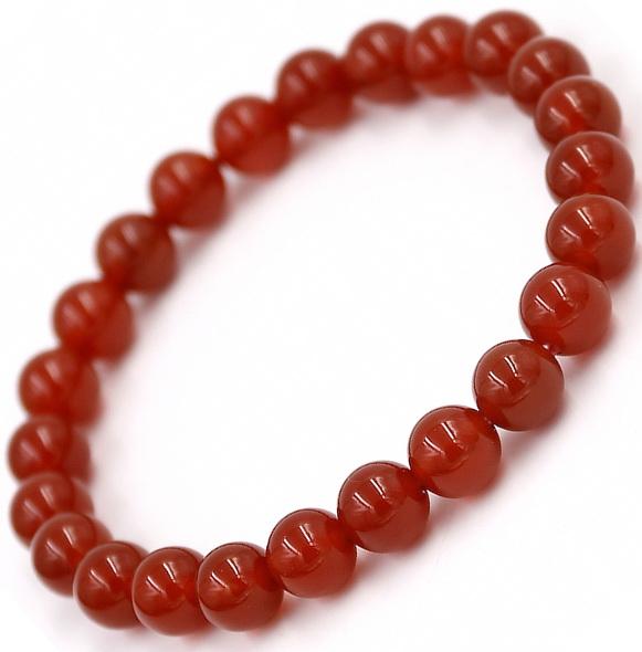 Красный агатовый браслет