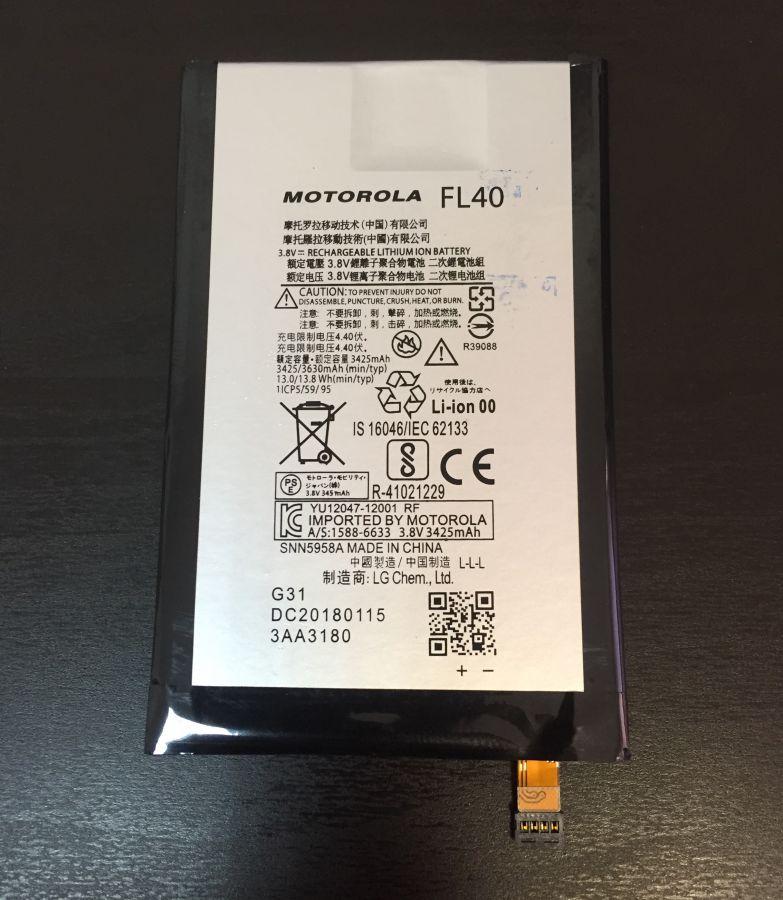 Аккумулятор Motorola XT1562 Moto X Play (FL40) Оригинал
