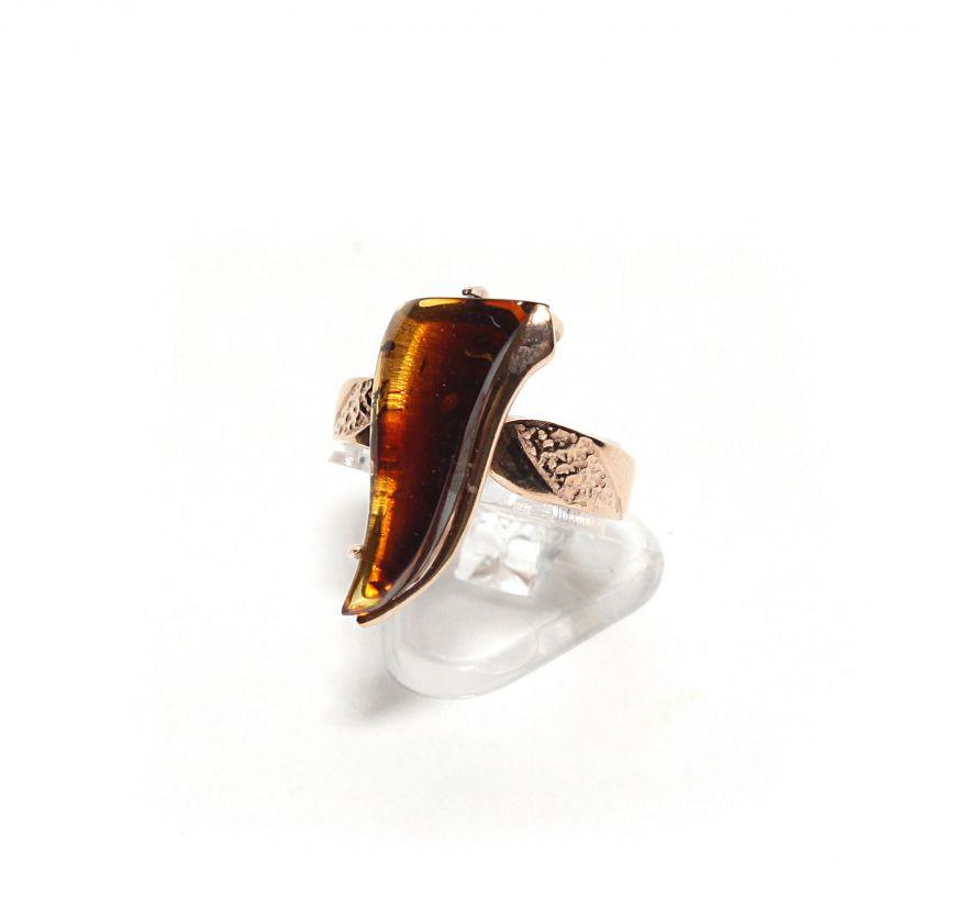"""Янтарное кольцо """"Олимпия"""""""