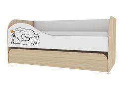 Детская кровать Аквилон Кот двухуровневая