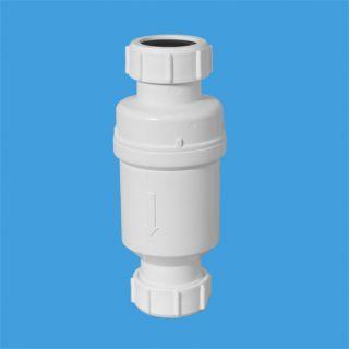 """Самозакрывающийся сливной клапан (""""сухой"""" сифон); Ду=32ммхДу=32мм (компрессионное соединение). Упакован в пластиковый пакет"""
