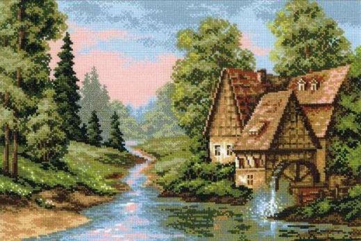 Набор для вышивания крестом Мельница №1097 фирма Риолис