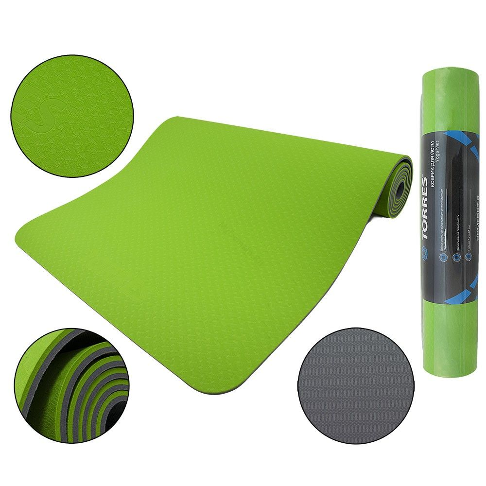 Коврик для йоги TORRES Comfort 6 мм YL10096