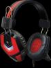 Игровая гарнитура Ridley красный + черный, кабель 2,2 м