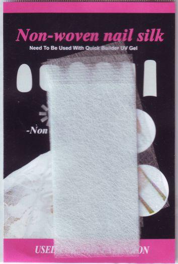 Шелк для укрепления ногтей  8 см х 4 см 10 отрезков