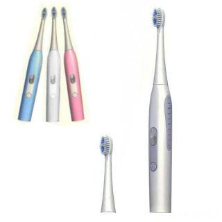 Электрическая зубная щетка со сменными головками, Цвет: Белый