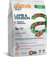 Alleva Holistic Lamb & Venison + Hemp & Ginseng Полнорационный сухой корм для взрослых кошек, с ягненком и олениной, 1,5кг