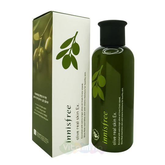 Innisfree Тонер с органическим оливковым маслом Olive Real Skin Ex, 200 мл