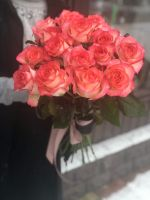 Букет розовых роз Джумилия (60см) (РОССИЯ)