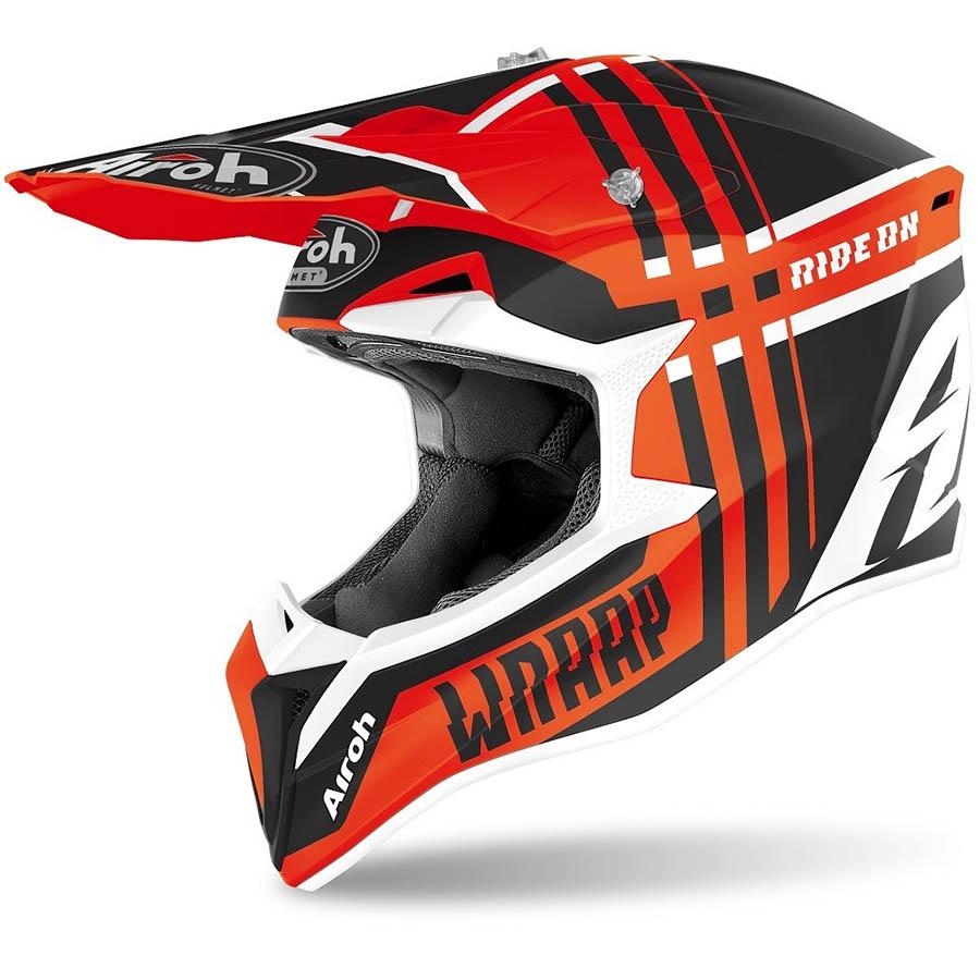 Airoh Wraap Broken Orange Matt шлем, оранжевый матовый