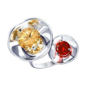 Кольцо из серебра с фианитами 8-94010008 SOKOLOV