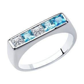 Кольцо из серебра с фианитами 94013104 SOKOLOV