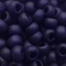 Бисер чешский 30110 прозрачный темно-синий матовый Preciosa 1 сорт