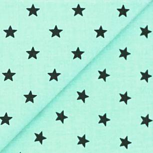 Хлопок со звёздами мятный 50х40см