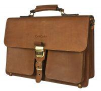 Кожаный портфель Carlo Gattini Soffranco brown